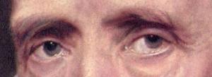 Portrait of Cornelius van der Geest by Van Dyck, eyes