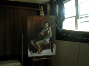 low rez matt progress shot day 2, full studio beside window