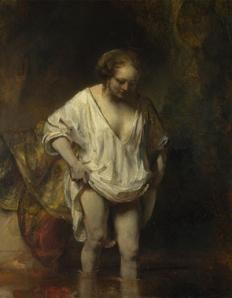 Rembrandt-woman-bathing-stream-2