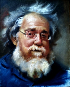 painting of old man